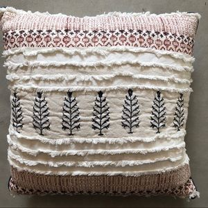 Embroidered Target Pillow